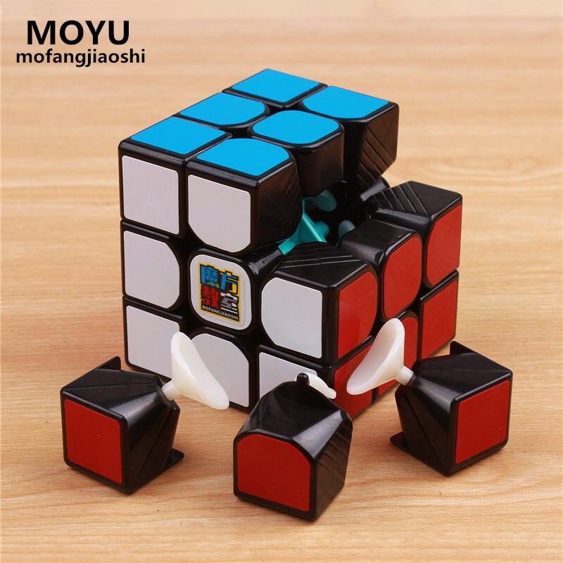 Moyu 3x3x3 cubo mágico mofangjiaoshi tres capas colorido Profissional velocidad cubo no Adhesivos puzzle cubo mágico juguete fresco Niño