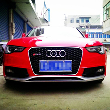 A5 RS5 Style chrome frame black Front Bumper mesh Grill Grille Car-styling for audi A5 2012~2015