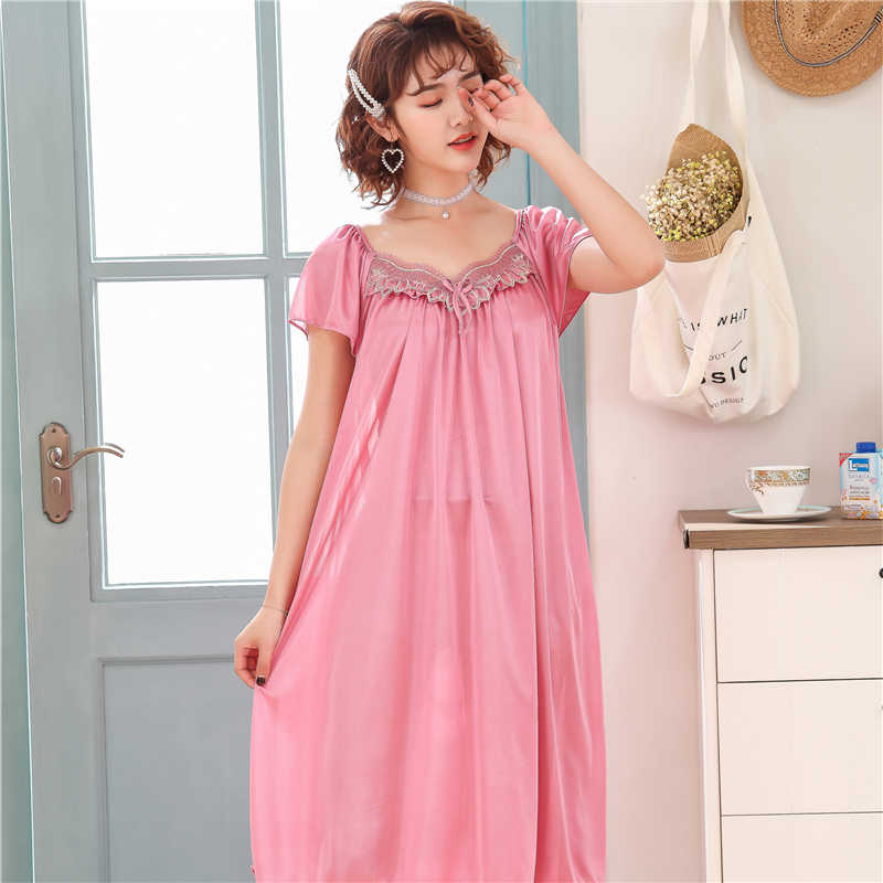 70c797f36a 2019 New summer young girls Nightgowns Soft Home Dress Sexy Nightwear Women  Sleepwear Sleep Lounge sleepshirts