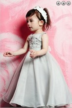 free shipping new 2014 Wedding Party Dresses Girls Pageant Gowns Princess dresses beaded detachable train Flower Girl