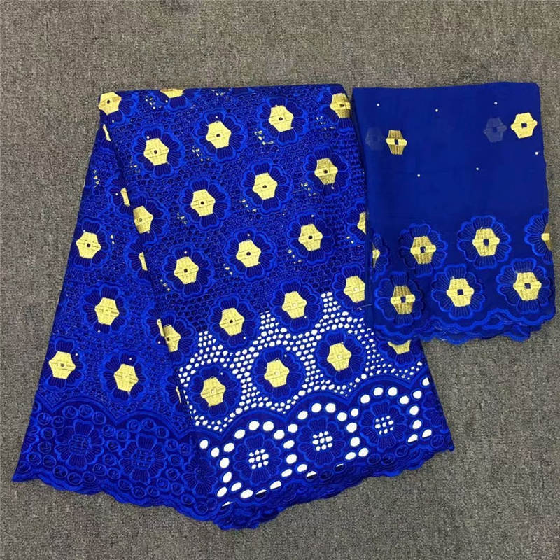 HL!High quality African Swiss fabric 5 yards and 2 yards head tie African embroidered cotton lace fabric ! J41420HL!High quality African Swiss fabric 5 yards and 2 yards head tie African embroidered cotton lace fabric ! J41420