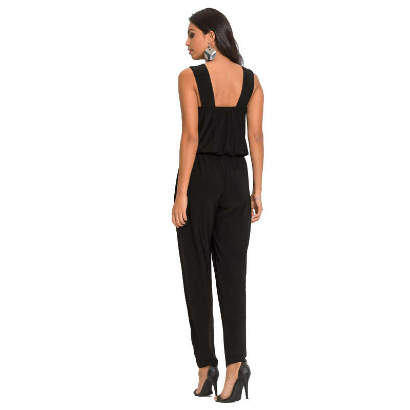 ff48533d5e04 ... Women s Little Black Romper Jumpsuits Slivery Sequin Patchwork Backless  Party Work Office Sleeveless Formal Jumpsuits 401835 ...