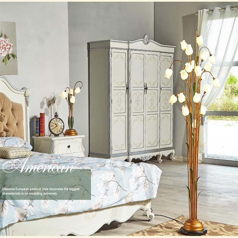 FUMAT Flowers Lámpara de pie Interior Retro Glass Art Decoración - Iluminación interior - foto 3
