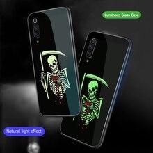 ciciber Funny Skull Glass Phone Case For Xiaomi MI 9 8 MIX 2 2S A2 6X PocoPhone F1 Cover for Redmi Note 7 6 5 Pro Plus Coque