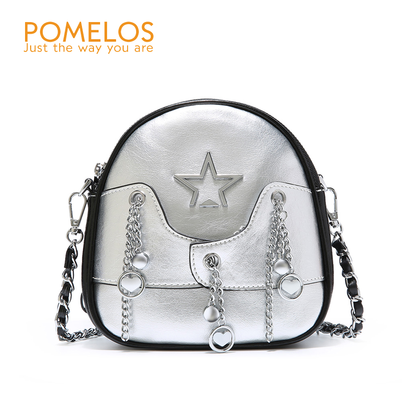 POMELOS Genuine Leather Mini Bag for Women High Quality Chain Shoulder Bag Purses and Handbags Fashion Crossbody Bags for Women high quality women s handbags fashion manual violin bag women purses unilateral oblique bag support drop shipping