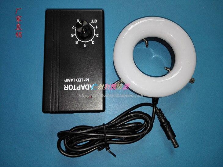 110 V-240 V Source de lumière optique blanche lampe à LED pour Microscope 45/62mm diamètre intérieur anneau lumière industrielle CCD caméra illuminateur