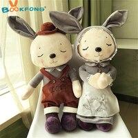 1 par conejo de peluche lindo juguete suave peluche conejo Pascua regalo bebé apaciguar juguetes niños regalo