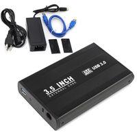 3 5 USB 3 0 External Sata Hard Drive External Case Enclosure Black 1 SET