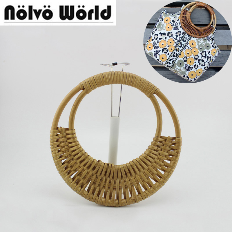 1 Pairs=2 Pieces,20cm Natural Cane Handles For Sewing Crafts,rattan Handle Design Your Ethnic Trending Bags Handbags Bolsa Clear-Cut Texture Luggage & Bags