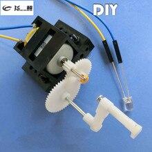 3e2f23ce190 Gerador Dobrado à mão DIY kit de Materiais de Treinamento Criança 9 5 cm  Motor