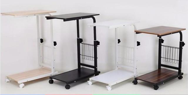 53*33 cm mesa de madera portátil de altura ajustable Lazy mesita ...
