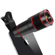 Universal Mobile Phone Lens Clip 8x 12x Optical Zoom Telesco