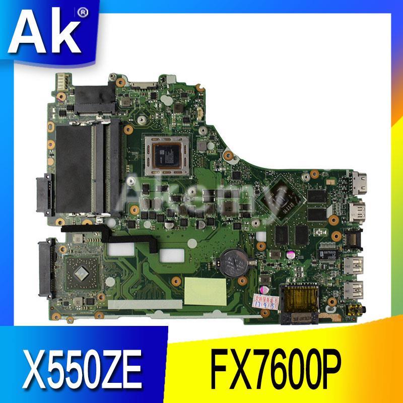 AK X550ZE carte mère D'ordinateur Portable pour ASUS X550ZE X550Z X550 K550Z VM590Z A555Z K555Z X555Z Test carte mère d'origine FX7600P