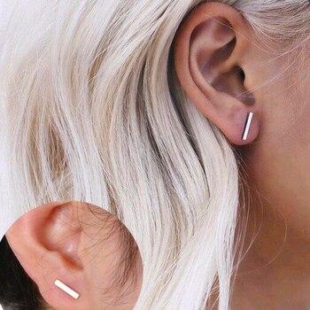 2018 Fashion Gold Silver Black Punk Simple T Bar Earrings For Women Ear Stud Earrings Exquisite.jpg 350x350 - 2018 Fashion Gold Silver Black Punk Simple T Bar Earrings For Women Ear Stud Earrings Exquisite Jewelry Geometry Brincos Bijoux