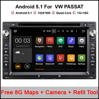 Quad Core Android 5.1.1 Car DVD GPS Radio For Old VW Transporter T4/T5 Bora Passat Mk5 Golf Mk4 Polo Jetta Peugeot 307 1998-2008