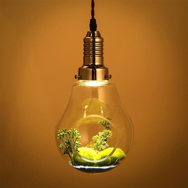 kreative glas pflanzen gro e birne gr ne pflanze pendelleuchte restaurant individuelle. Black Bedroom Furniture Sets. Home Design Ideas