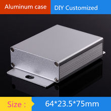 Mini aluminium penguat chassis/Instrumen Chassis/pemancar shell/AMP Enclosure/kasus/DIY box (64*23.5*75mm)(China)