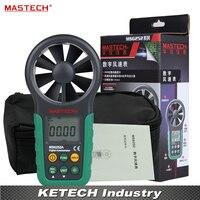 Цифровой анемометр t & RH Сенсор ветер Скорость измеритель скорости USB Интерфейс MASTECH MS6252B