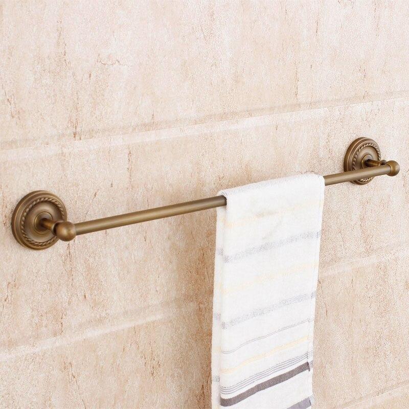 Beelee BA6101A Бесплатная доставка Европейский Стиль Ванная комната Полотенца крючок 100% латунь настенный одного бар Полотенца полки