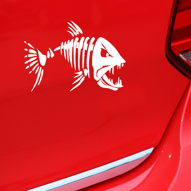 Car styling fierce Fish decoration sticker,personality reflective car vinyl decals and sticker on car tail window and so on