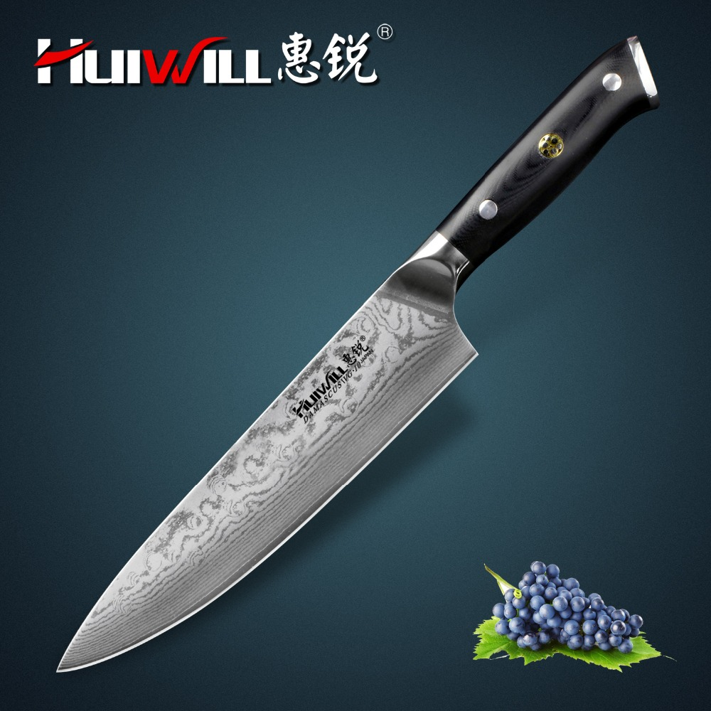 Huiwill high quality Japanese VG10 Damascus stainless steel 6 ...