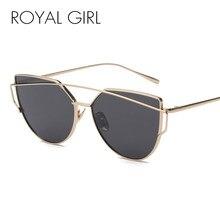 4e9a000ae112 ROYAL GIRL Cat Eye Sunglasses Women Vintage Brand Designer Metal Sun Glasses  Female Mirror Unisex Glasses Shades UV400 ss395