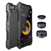 NENG Luxury 3 Proofings Camera Lentes Kit Dirt Shock Waterproof Case for Samsung S 7 8 9 Plus Heavy Rugged Cover +Tempered Glass