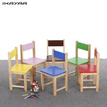 iKayaa US DE FR Stock Solid Wooden Kids Chair Stool Solid Pine Wood Children Stacking School Chair Furniture 80KG Load Capacity(China)