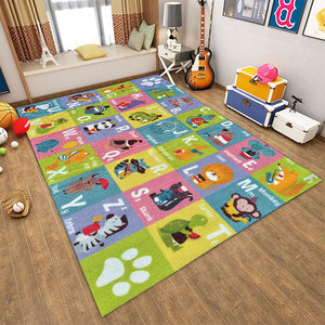 Image 4 - Baby Play Mat Letter Number Children Game Rug Kids Toys Anti slip Soft Plush Carpet Puzzle Learning Gym Flannel Playmat