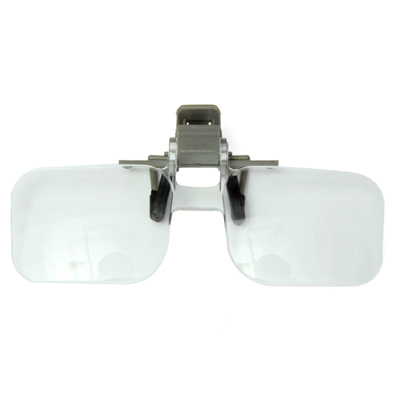 Magnifier Folding Handfree Clip On Eyeglasses Clear Magnifying Glasses HD Lens Precise Jewellery Appraisal Watch Repair