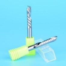 2 pcs עד למטה לחתוך 5x22 MM אחת חליל AAA מוצק קרביד CNC נתב Endmill דחיסת עץ טונגסטן סוף כרסום קאטר כלי קצת