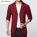 M-4XL Men Jacket 2016 New Arrival Men's Fashion Solid suit Jacket  Casual Spring and autumn and winter Coats men's short trench