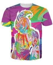 Nave de la gota de la pintada del estilo Dragon Ball Z camisetas mujer hombre verano Hipster t shirt 3D Ball Majin Buu camisetas Casual tee shirts tops