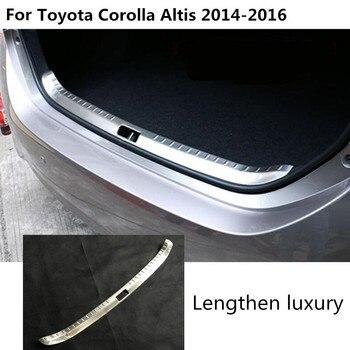 Araba vücut Paslanmaz Çelik Iç Arka gövde Tampon trim plaka çerçevesi eşik pedalı 1 adet toyota Corolla Altis 2014 Için 2015 2016