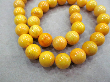 high quality 10mm 5strands turquoise beads round ball yellow oranger ewelry beads