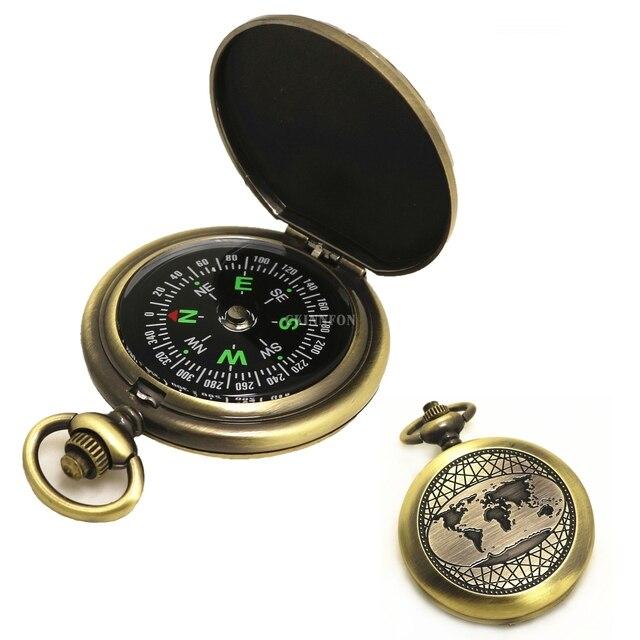 DHL 120 pièces Vintage cadeau boussole montre de poche boussole extérieur voyage alpinisme Camping aventure boussole