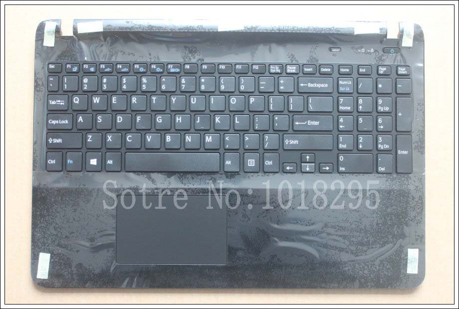 US laptop keyboard for sony Vaio SVF152A29M SVF152a29u with frame Palmrest Touchpad Cover