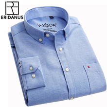 New Autumn Casual Shirts Slim Fit Long Sleeve Brand Formal Business Fashion Oxford Dress Shirt Chemise Homme Plus Size 5XL X448