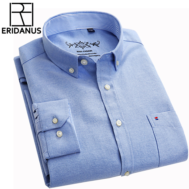Новые осенние Рубашки домашние муж. Slim Fit с длинным рукавом Брендовое вечернее Бизнес Мода Оксфорд Платье рубашка CHEMISE Homme Plus Размеры 5xl x448