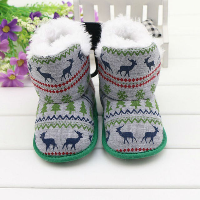 Christmas Boots For Girls.Us 9 99 Fashion Deer Christmas Boots For Baby Girls Boys Soft First Walkers Shoes Kids Christmas Gifts Baby Boots Natal Botas In Boots From Mother