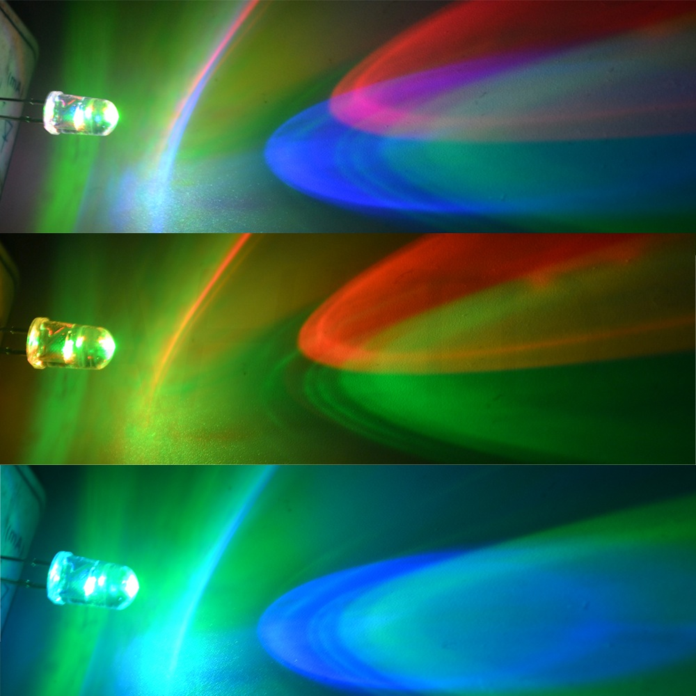 20x  5mm RGB Fast Flash LED Rainbow Red Green Blue Pre Wired led Light 12V 20cm