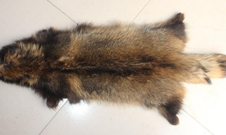 Peau de fourrure de raton laveur couleur naturelle pas cher - 2