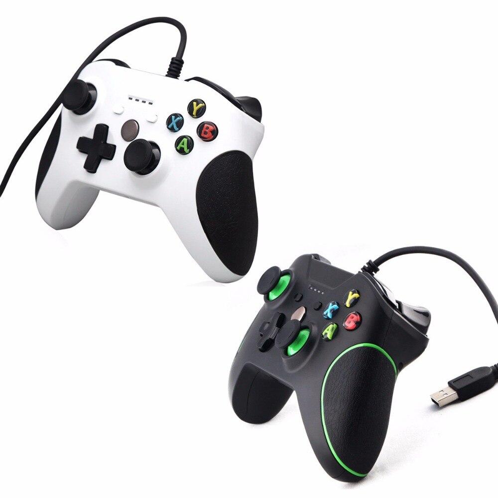 USB Filaire Contrôleur Controle Pour Microsoft Xbox Un Contrôleur Gamepad Pour Xbox Un PC Windows 7 8 10 XP Pour xbox one Joystick