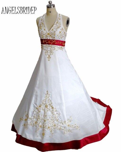 Angelsbridep Elegant Wedding Dress 2018 Halter Neck Bridal Gown