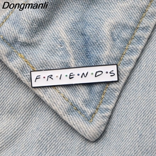 DMLSKY Tv Show Friends Letter Metal Brooches Pin Cool Badges Icon on The Backpack Pins for Clothing Jewelry Gift M2700