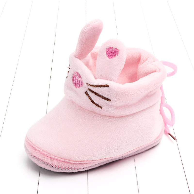 Indoor First Walkers Baby Shoes Cotton Anti-slip Booties Winter Wammer Baby Girl Boy Shoes Newborn Slippers Footwear Booties (22)