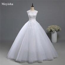 ZJ9139 vestido imágenes reales de tul y encaje de 2020 vestidos de novia 2019 vestidos de novia vestido Plus tamaño brillo falda cuentas de cristal