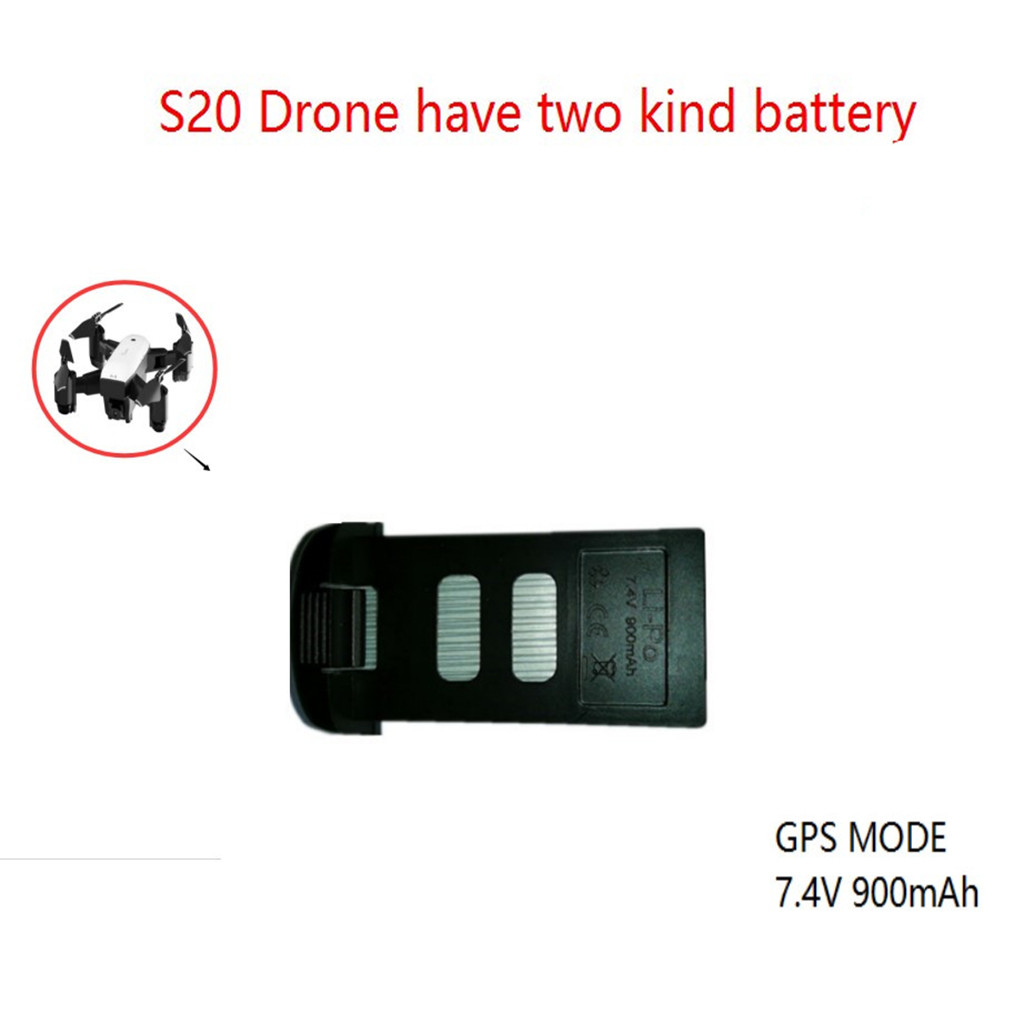 Image 2 - 2019 Portable  Suitable  Charging 2PC Upgrade Backup Flight Li po Battery 7.4V 900mAh For SMRC S20  RC Drone Accessories-in Parts & Accessories from Toys & Hobbies