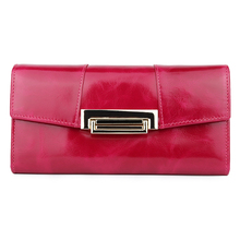 Long Vintage Women Zipper Wallets Premium Genuine Oil Wax Leather Wallet European And American Large Capacity Clutch Purses