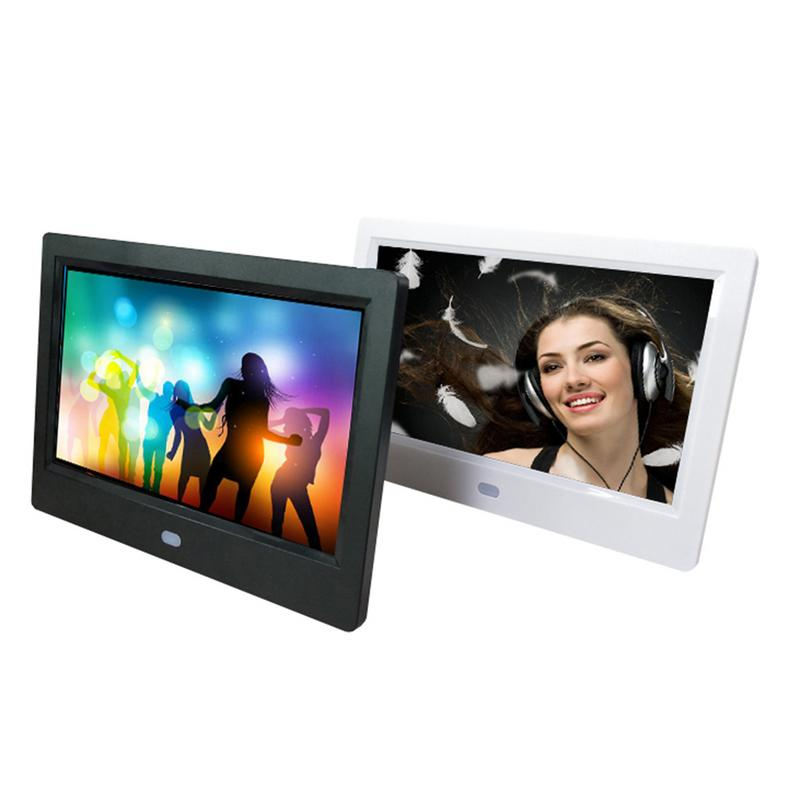 7 Inch HD 1024*600 Digital Photo Frame Clock Music Video Player With Remote Alarm Clock MP3 MP4 Movie Player цены